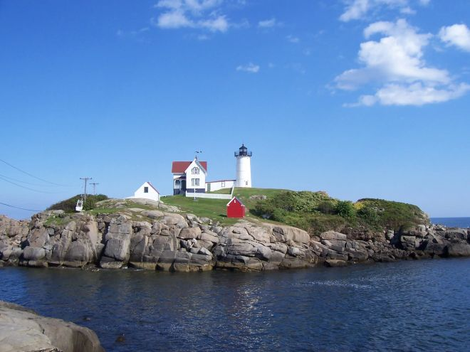 The Nubble Lighthouse at Cape Neddick.
