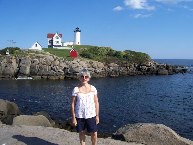 Mom at Nubble.