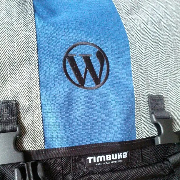 New bag finally arrived. Thanks Automattic!