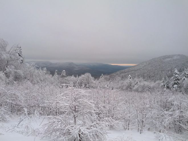 Snowy White Mountain National Forest from the Kancamagus