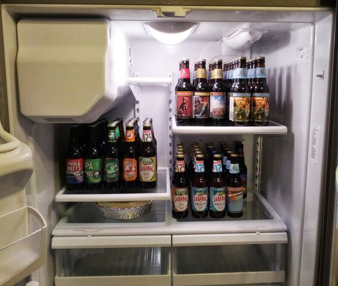 Saratoga Springs beer fridge