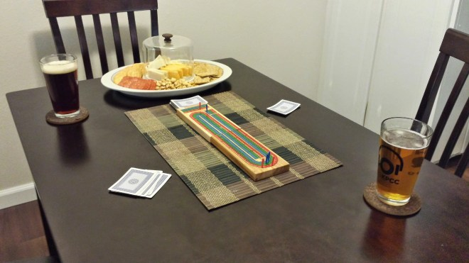 Cribbage and a snack