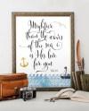 Bible Verse Printable Art Psalm 93 4 Nautical Nursery Etsy