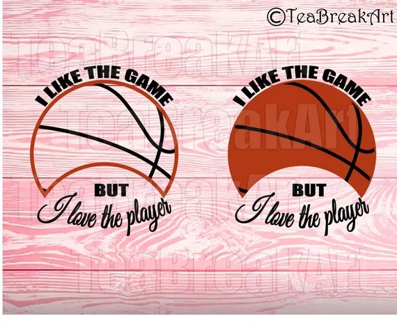 Download I like the game but I love the player Basketball Monogram ...