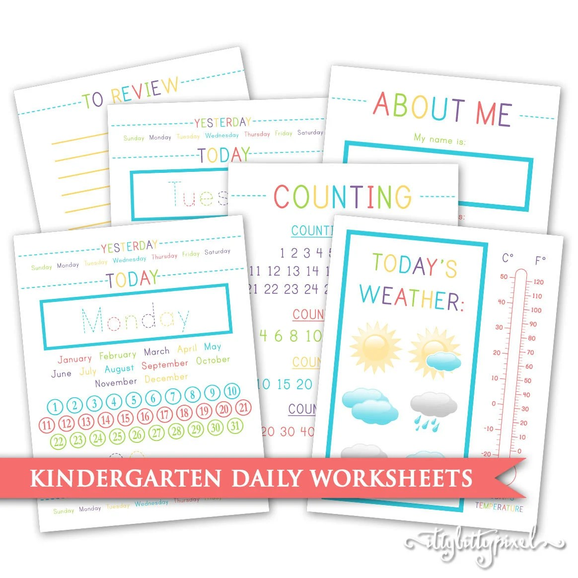 Kindergarten Daily Worksheets Calendar Month Day Week Date