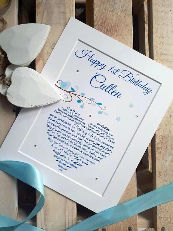 First Birthday Baby Boy Son S First Birthday Gift Etsy