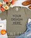 Bella Canvas Mockup Fall T Shirt Mockup Bella Canvas 3001 Etsy
