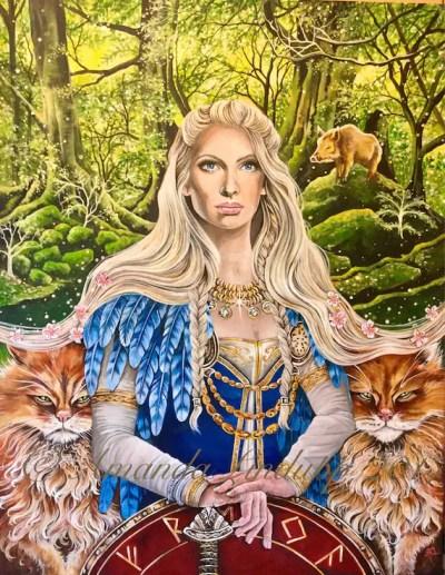 NEW A4 Norse Goddess Freya Print | Etsy