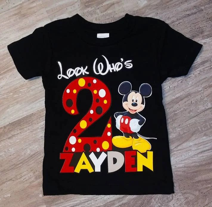 Mickey 2nd Birthday Shirt Shop Clothing Shoes Online