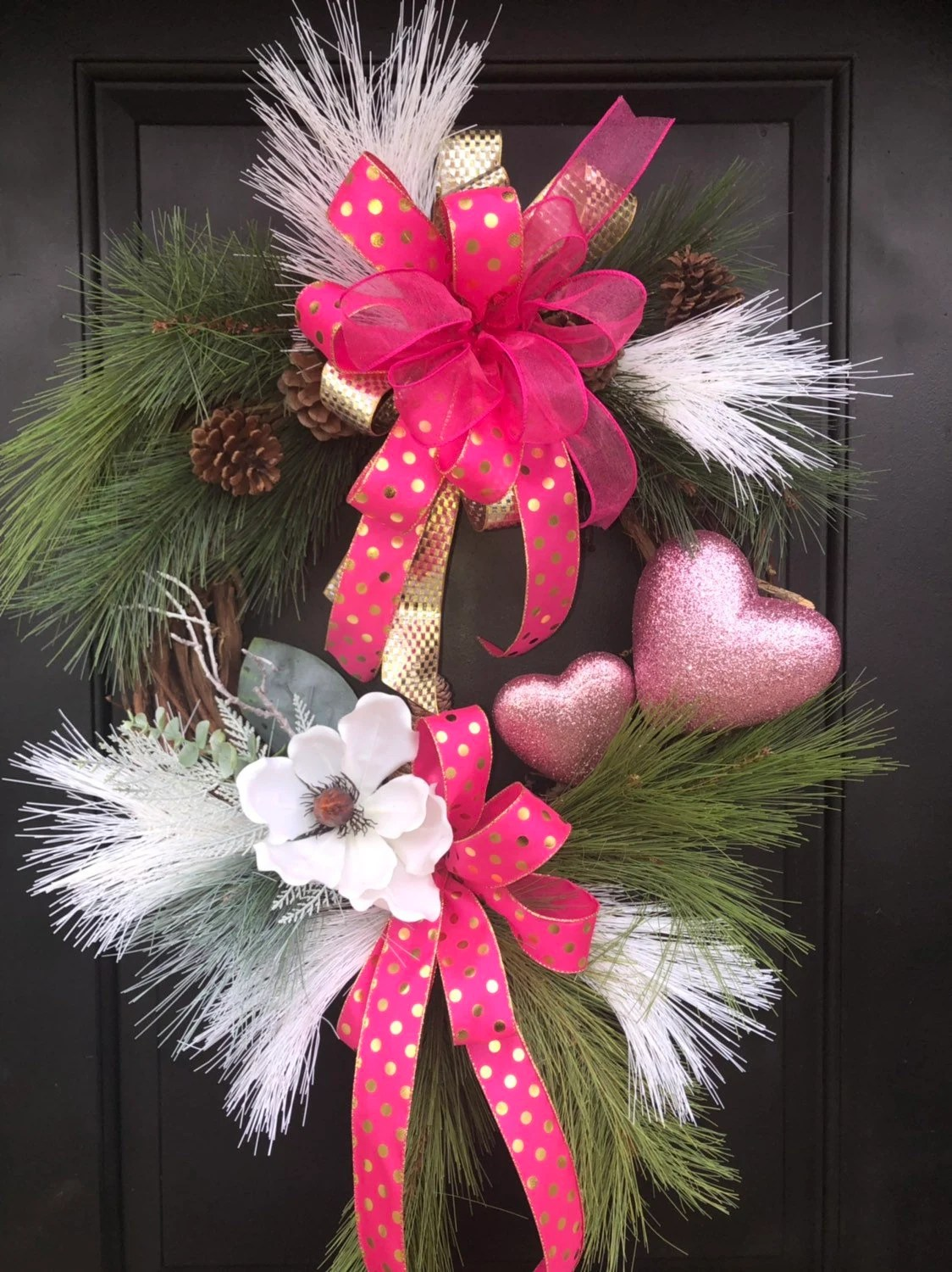 Valentine Wreath Pink Heart Valentine Wreath Heart