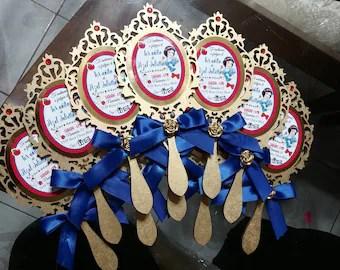 snow white invitation etsy