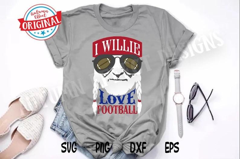 Download I Willie Love Football SVG Willie Nelson Football Design ...