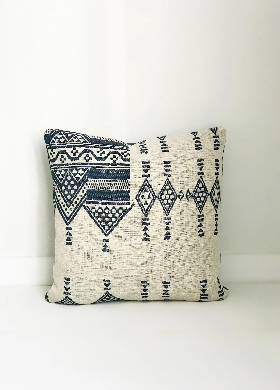 indoor outdoor african tribal pillow