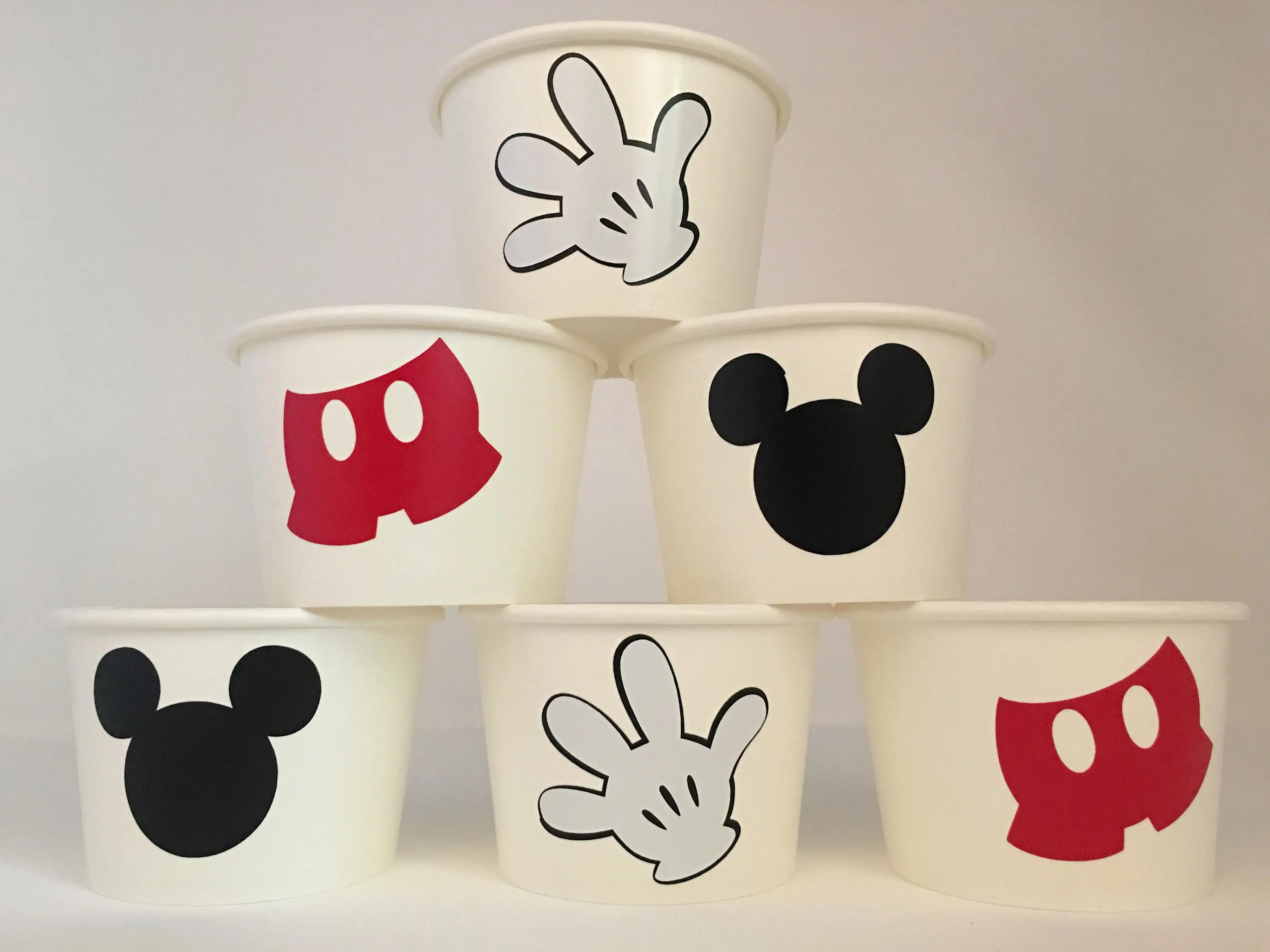 Mickey Mouse Party Cups Mickey Mouse Birthday Party Mickey Etsy