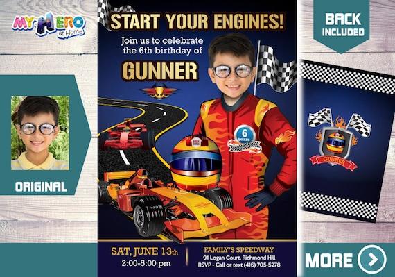 race car birthday racecar driver party