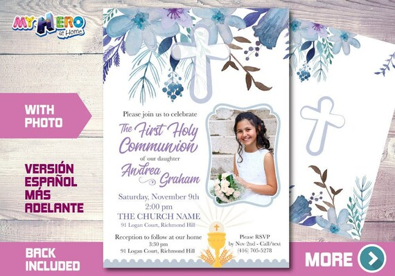 first holy communion invitation first