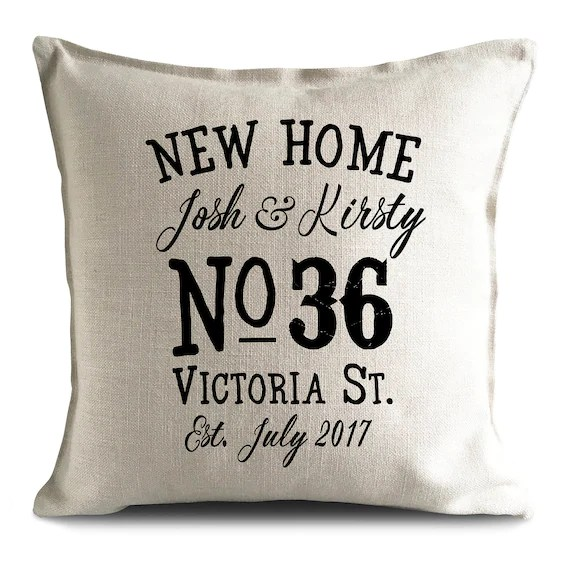 Personalised New Home Cushion