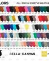 121 Mockups All Colors Bella Canvas 3001 3001cvc Heathers Etsy