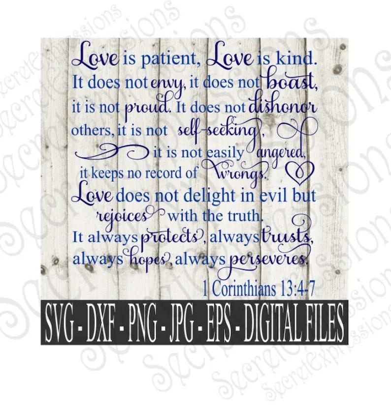 Download Love is Patient Love is Kind Svg 1 Corinthians 13:4-7   Etsy