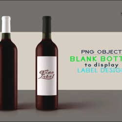 Blank Png Wine Bottle 6 Png Bottles With Red Wine White And Etsy