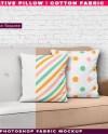 Square Decorative Pillow Cotton Fabric Photoshop Fabric Etsy