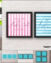 Square Blank Frame On Wall 8 Png Interior Scenes Mockup Etsy
