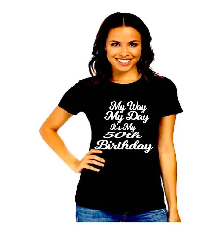 50th Birthday Shirt Birthday Shirt For Women 50 And Fabulous Etsy