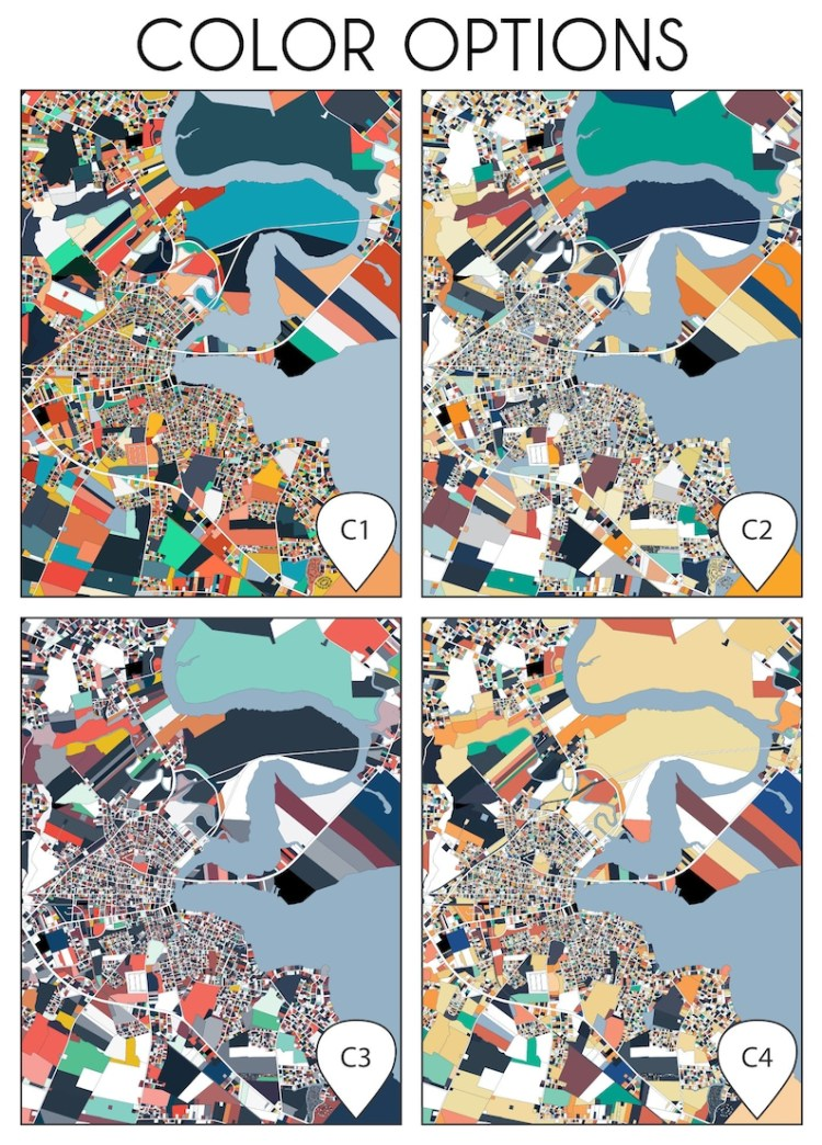 Elizabeth City NC Map Print Beach House Wall Art Poster | Etsy