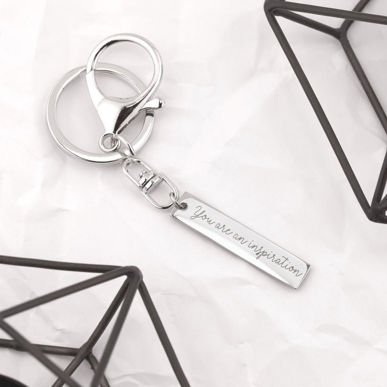 Engraved Keychain for Women Custom Keychain Mens Gifts image 6