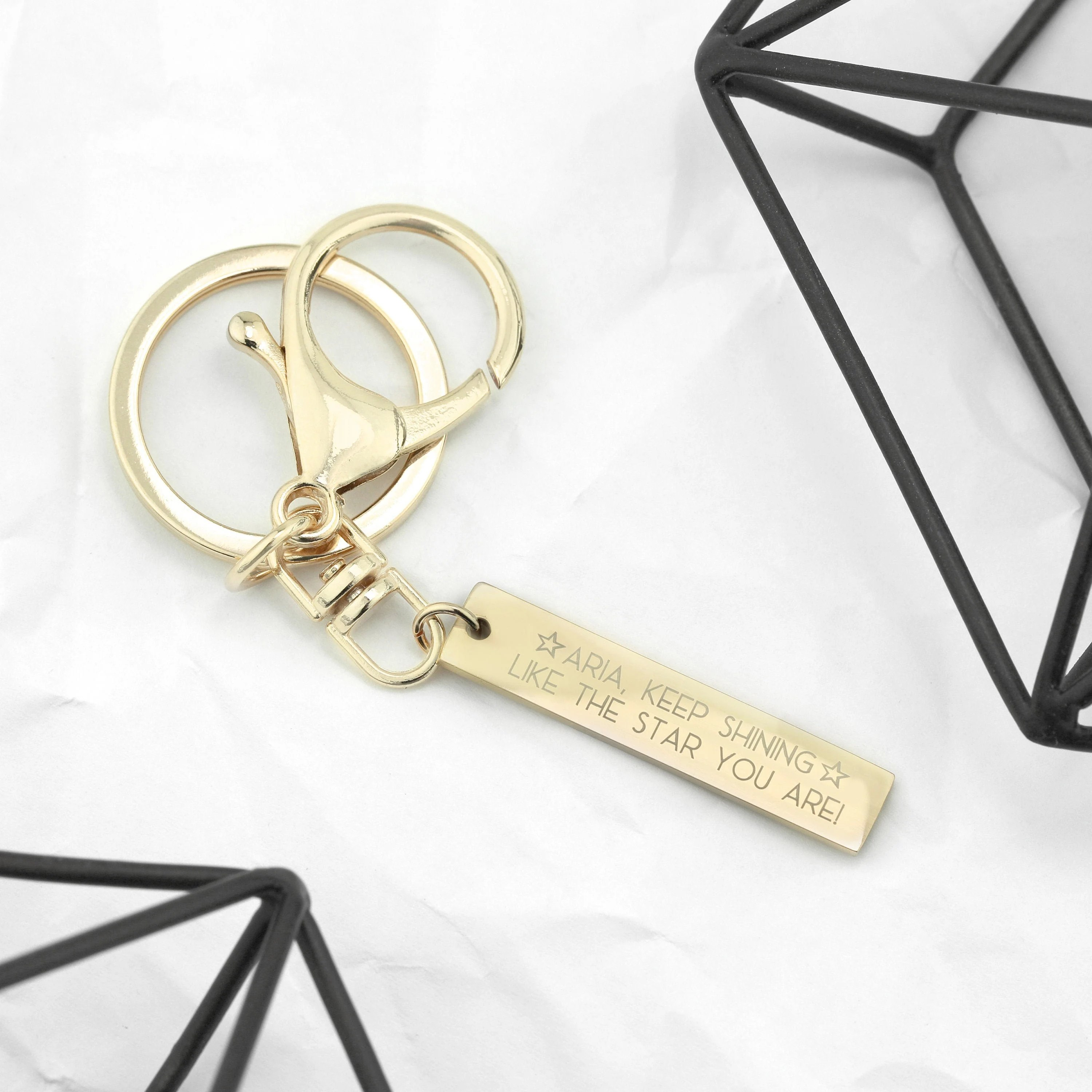 Engraved Keychain for Women Custom Keychain Mens Gifts image 7