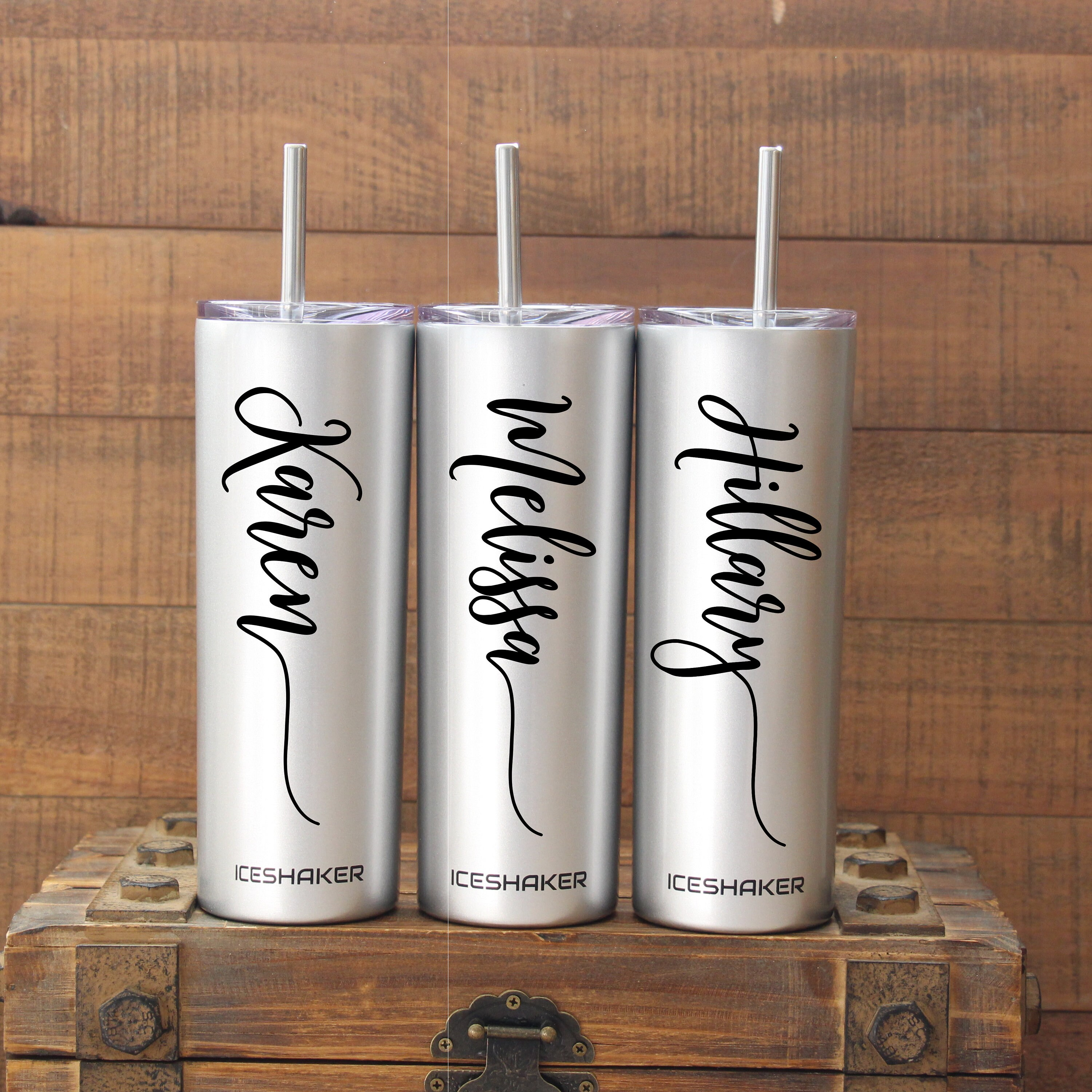 Personalized Tumbler Bridesmaid Gift Stainless Steel image 7
