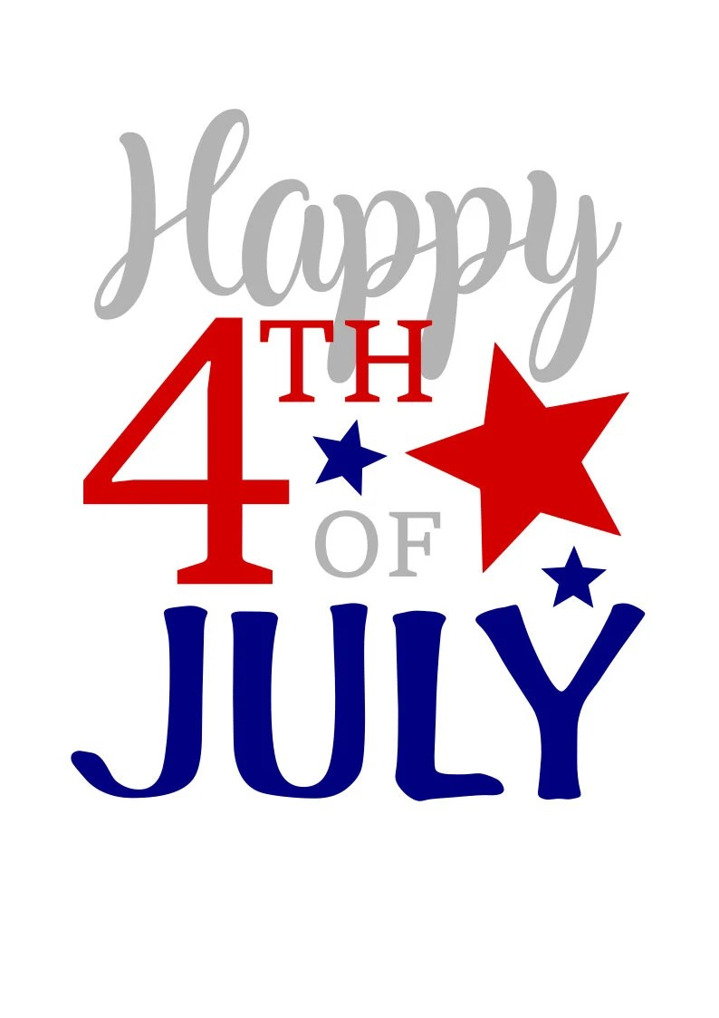 Download Happy 4th of July SVG File Digital Download for Cricut and ...