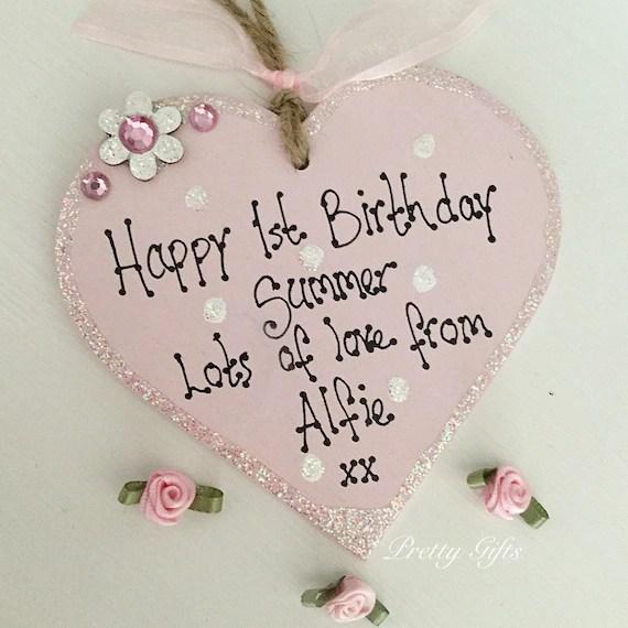Personalised 1st Birthday Keepsake Gift 1st Birthday Girl Etsy