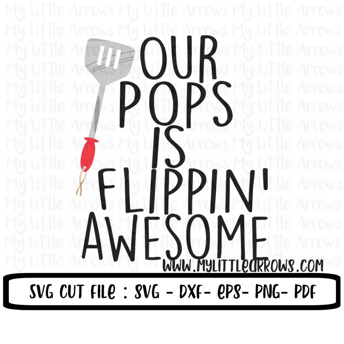 Download Our pops is flippin awesome SVG DXF EPS png Files for | Etsy