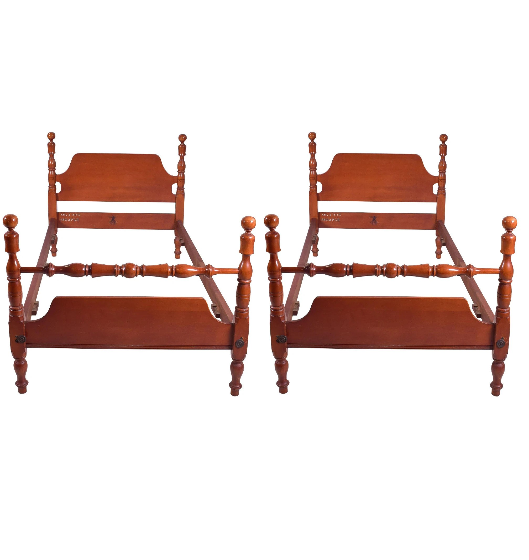 pair twin beds etsy