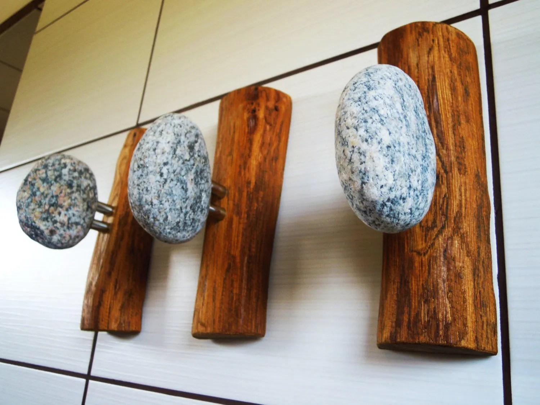 3 pcs stone hooks wall mounted solid