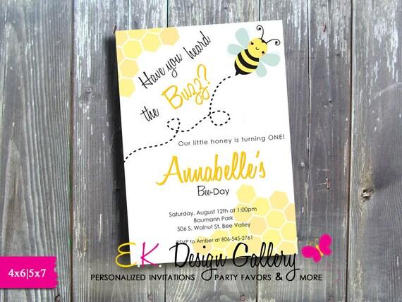 bee invitation bee birthday invitation bee theme invite bees printable invitation digital invites bee birthday party invitation