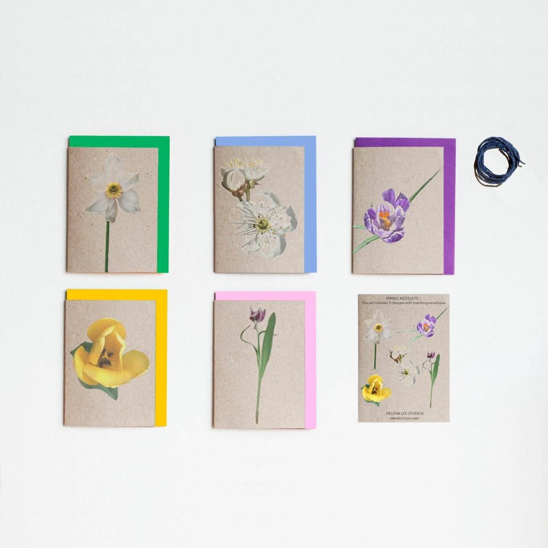 Spring flower notelets, 5...