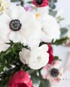Styled Stock Photography Anemone Bouquet With Rose Gold Etsy