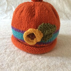 a336c9d900ab6 Hat With Sunflower Sunflower Hat Knit Baby Cap Fall Baby Etsy