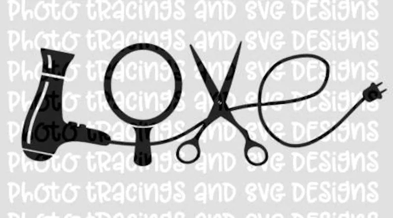 Download Love hair SVG file for cricut or silhouette   Etsy