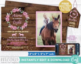 horse riding invite etsy