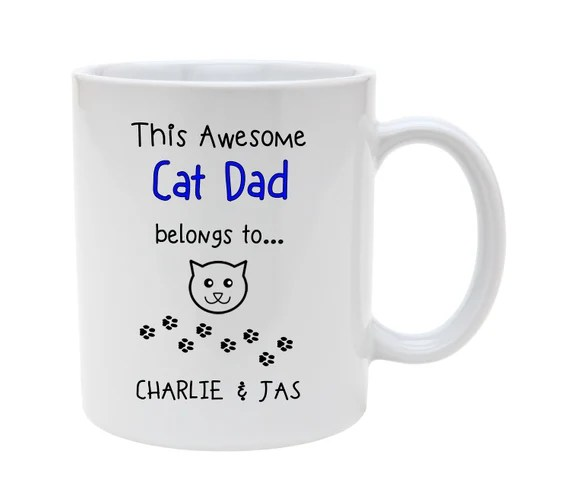 Awesome CAT DAD MUG