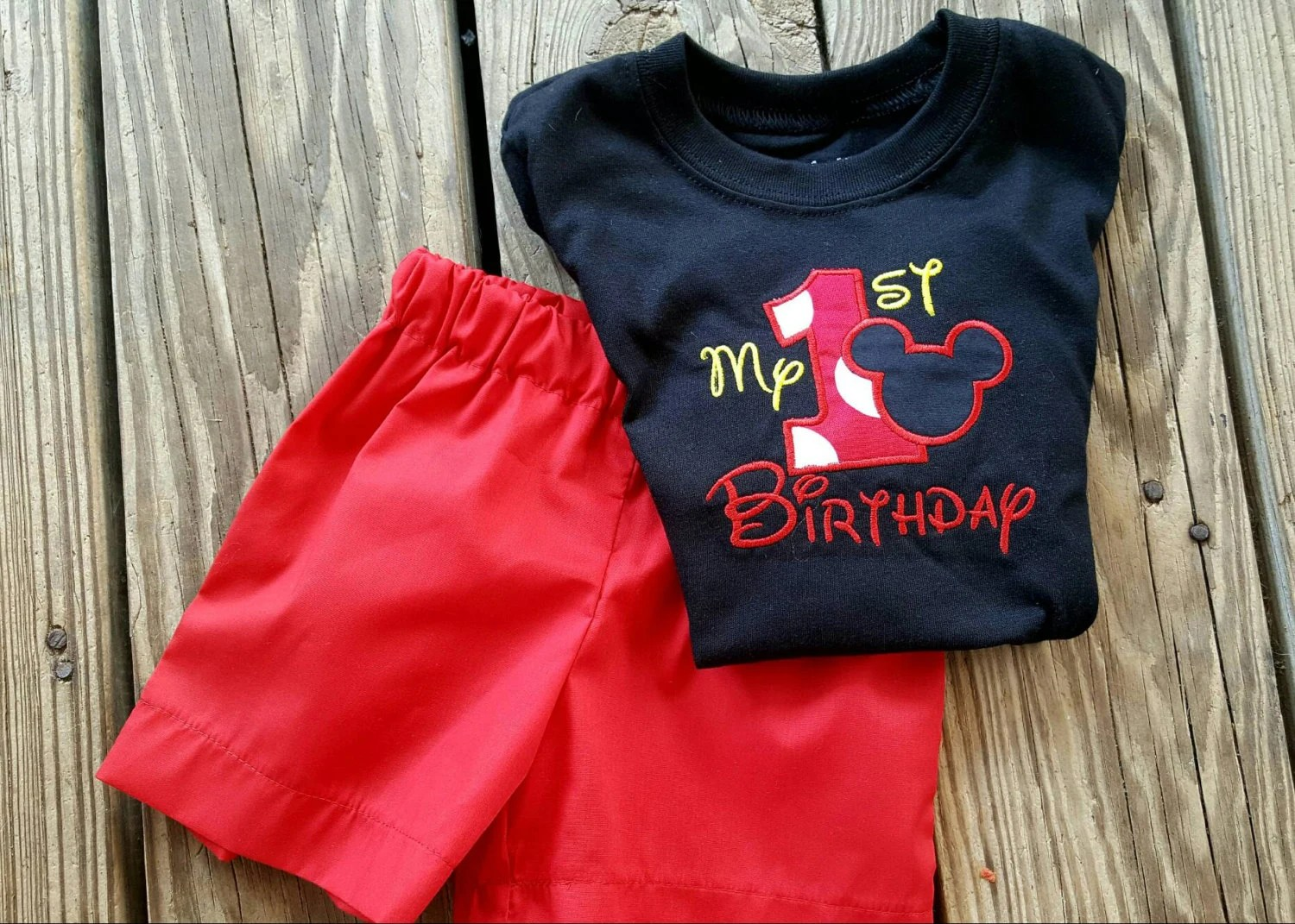 1st Birthday Mickey Mouse Outfit Etsy