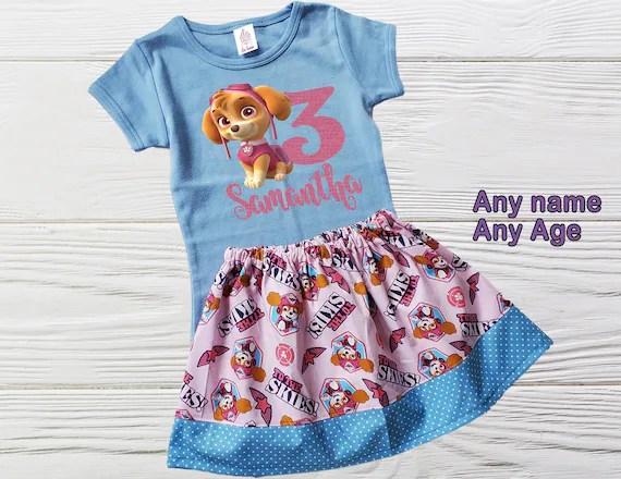 Paw Patrol Birthday Outfit Skye Dress Girl Skye Personalized Etsy