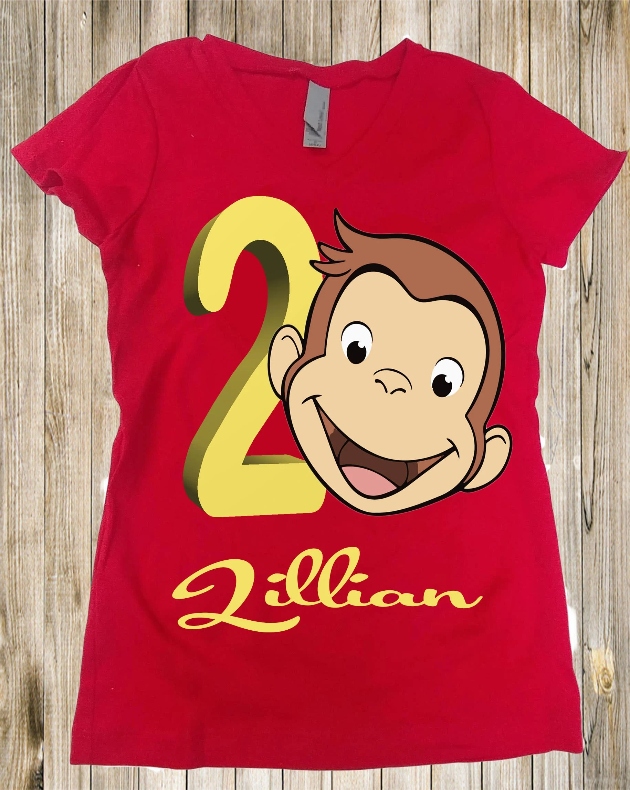 Curious George Birthday Shirt George Toddler Shirt Girls Etsy