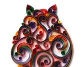 Made-to-Order | Paper Quilled Scrollwork Fat Cat 5x7 | Customizable