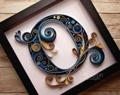Paper Quilled Monogram | Quilled Letter | Lettering | Made-to-Order