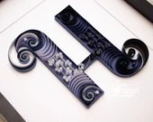 Simple & Elegant Paper Quilled Letter H Monogram