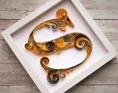 Standard Monogram | Paper Quilled Letter | Lettering | Calligraphy | Made-to-Order